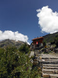 Path to Muktinath Buddhistic Temple Complex Stock Images