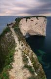 The path to nowhere - Dorset coast, England Stock Image
