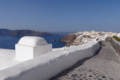 Path to Oia town Stock Image