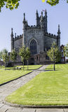 Path to Oldham Parish Church in Lancashire. Path through grounds to Oldham Parish Church in Lancashire Royalty Free Stock Photo