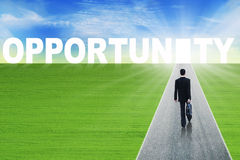 The path to opportunity Stock Photos