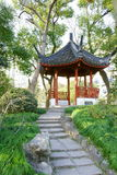 Path to a pavilion. Chinese pavilion in a park.It's a very beautiful view Stock Photography