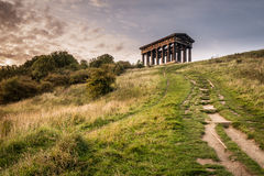 Path to Penshaw Monument Stock Photo