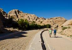 Path to Petra. Road path to Petra,Jordan Stock Photos