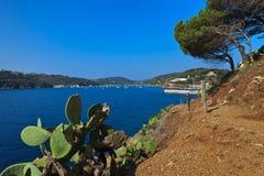 Path to Porto Azzuro Royalty Free Stock Photos