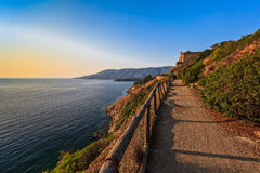 Path to Porto Azzuro Royalty Free Stock Photo