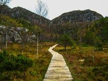 Path to Preikestolen Stock Photo