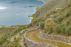 Path to Quilotoa Lake, Ecuador Royalty Free Stock Photography