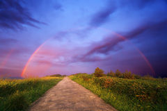 Path to the rainbow Stock Images