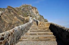 Path to San Juan de Gaztelugatxe (Spain) Stock Image