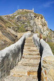 Path to San Juan de Gaztelugatxe (Spain) Stock Photo