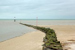 A path to the sea. Beach of Trouville France. Stock Photo