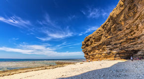 Path to sea caves door Royalty Free Stock Image