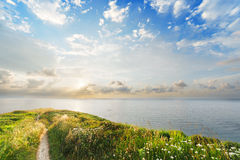 Path to the sea. On sunny day Stock Image