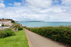 Path to seafront Shanklin Isle of Wight England UK popular tourist and holiday location east coast of the island Stock Photos