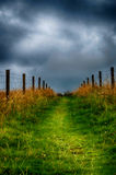 Path to the sky. A dramatic cloudy sky in Scotland Royalty Free Stock Photo