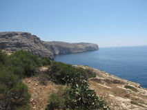 Malta - beutifall landscape from the shore. Landscape  near the blue grotto - in malta Stock Images