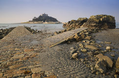 Path to St Michael's Mount from Marazion Stock Photos