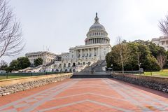 Path to the Steps of Capitol Hill royalty free stock image