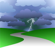 Path to Stormy Future/eps Royalty Free Stock Images
