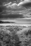 Path to Strathy Bay beach Stock Photo