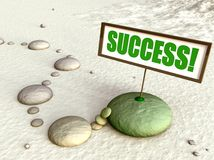 Path to success 3D illustration. Path to success made with pebbles. Very calm and peaceful 3D illustration with strong concept vector illustration