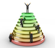 Path To Success. 3D image of pyramid which represents the path to success Royalty Free Stock Photos