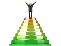 Path To Success. 3D image of pyramid which represents the path to success Stock Photos