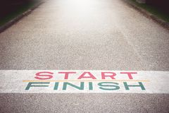 Path to Success and Future , Path to Success and the Future Road. To Success That might have to compete Break through obstacles Stock Image