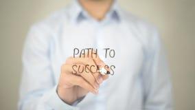 Path to Success , Man writing on transparent screen. High quality Stock Photos