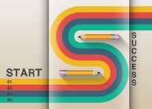 The path to success retro graphic design Stock Image