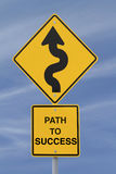 Path to Success Road Sign Stock Photo