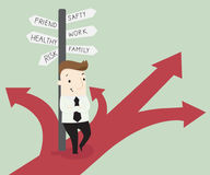 Path to success. Vector illustration business cartoon concept Royalty Free Stock Photography