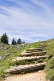Path to summit Breitenstein Stock Image