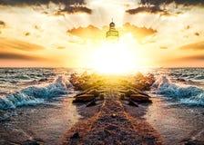 Free Path To Sunlight Through The Sea . Royalty Free Stock Photo - 194728465