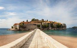 Path to Sveti Stefan island Stock Image
