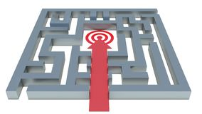 Path to the target in the maze.  Royalty Free Stock Photography