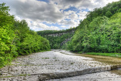Path to Taughannock Falls, New York royalty free stock image
