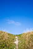 Path to the Top of the Hill Royalty Free Stock Photography