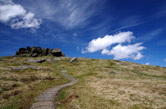 Path to the top. Peak District, England. Royalty Free Stock Photography