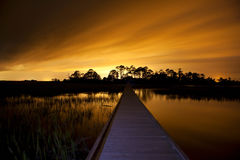 Path to unknown destination. Path in the dark to unknown destination Royalty Free Stock Photography