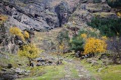 Path to Vanis Qvabebi cave monastery in Georgia Stock Photos