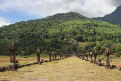 Path to Vat Phou temple, in south Laos Royalty Free Stock Photo