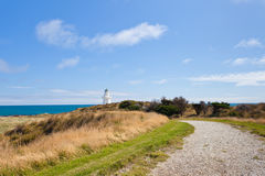 Path to Waipapa Point Lighthouse The Catlins of NZ Stock Photo
