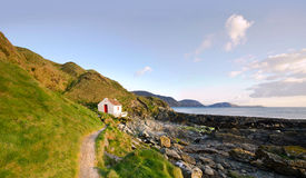 Path To White Cottage On A Coast - Niarbyl