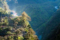 The Path to Yamunotri. The winding path to the temple of Yamuna at Yamunotri, North India Stock Image