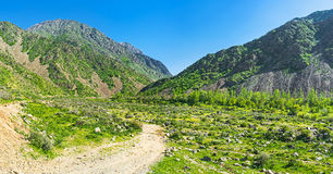 The path to the Zarmas gorge Stock Photo
