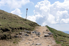 Path on the top of the mountains Stock Photography