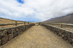 Path toward Cofete beach in Fuerteventura, Canary Islands Stock Photography