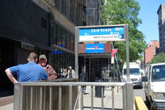 PATH Train Entrance Stock Photos
